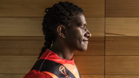 Cathy Neap, Captain PNG Orchids is in Sydney for Rugby league world cup 14th November 2017 Photo by Louise Kennerley SMH ...