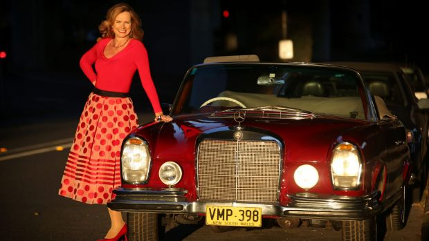 """Naomi Simson, pictured with her 1961 Mercedes Benz, said: """"Compliance is expensive and hard for small business."""""""