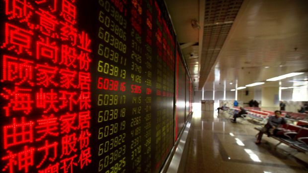 Chinese stock prices.