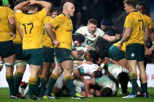 Unflattering result: The Wallabies were well beaten on the scoreboard but not on the field.