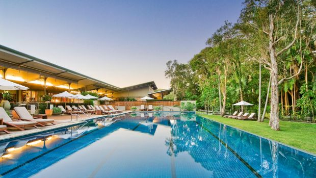 There could be worse places to contemplate the future: The pool at the Byron at Byron.