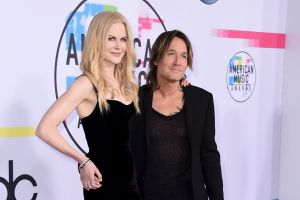 Nicole Kidman, left, and Keith Urban arrive at the American Music Awards.