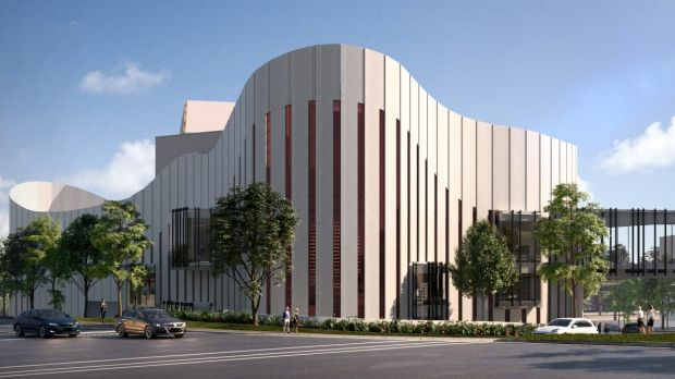 An artist's impression of the $100 million Western Sydney Performing Arts Centre, which is to be built next to Rooty ...