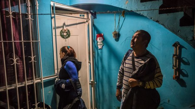 Vicky Delgadillo and Carlos Saldana leave their home in Xalapa to search a ranch where they believe their missing ...
