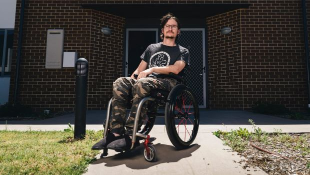 Paraplegic Zac Barret had his car stolen from outside his home in Jacka at the weekend.