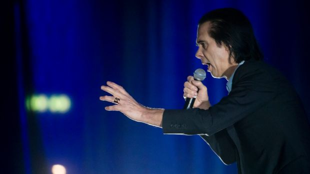 Nick Cave performing with The Bad Seeds