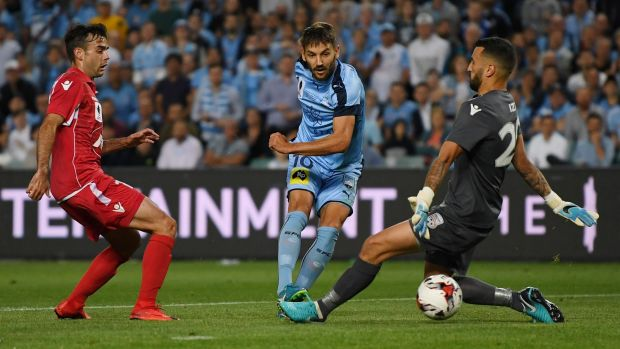 Milos Ninkovic scores the opener.