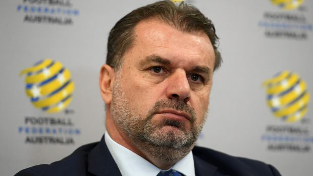 Outgoing Socceroos boss Ange Postecoglou.