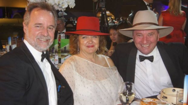Minister Nigel Scullion, Gina Rinehart and Barnaby Joyce at the National Agriculture Day celebration in Canberra on Tuesday.
