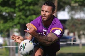 Testing times: Sandor Earl at Melbourne Storm training in November.