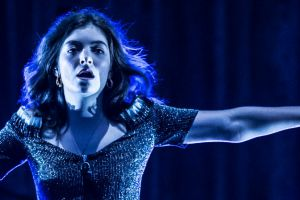 Lorde performing in her Melodrama world tour.