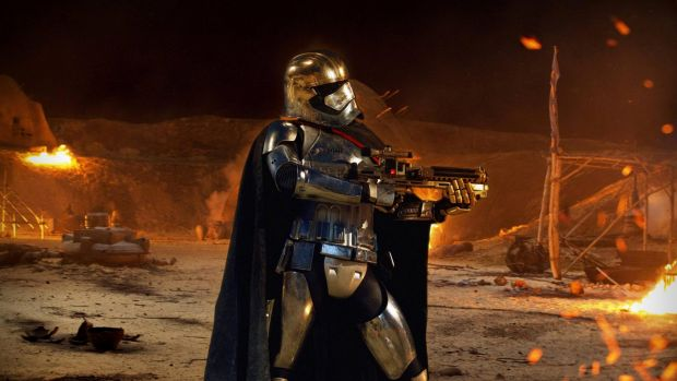 As Captain Phasma in the upcoming Star Wars: The Last Jedi.