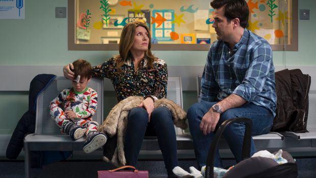 Sharon Horgan and Rob Delaney in season three of the abrasive comedy, Catastrophe.
