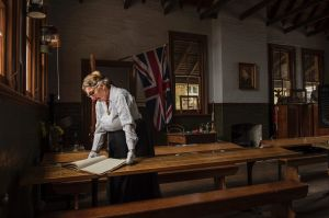 The Schoolhouse Museum on the grounds of North Ryde Public School. Photo shows one of the oldest items which is a ...
