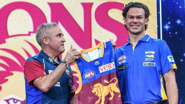 AFL No.1 draft pick Cameron Rayner is pumped to be a Lion.