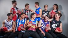Draft top 10:  (First row L-R) Fremantle Dockers No.5 pick Adam Cerra, North Melbourne Kangaroos No.4 Luke ...