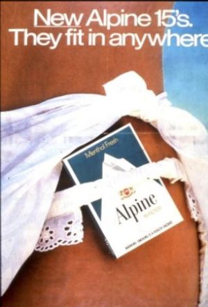 A cigarette advertisement targeting young women in the late 1980s.