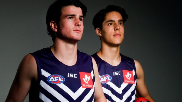 Fremantle went hard at the draft, with Andrew Brayshaw (left, No.2) and Adam Cerra (No.5) the highest of their eight ...