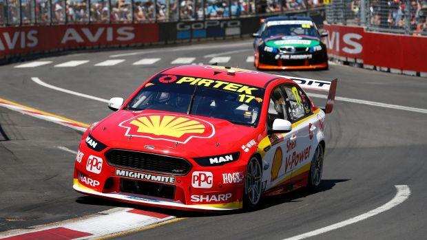 Scott McLaughlin on the Newcastle street circuit.