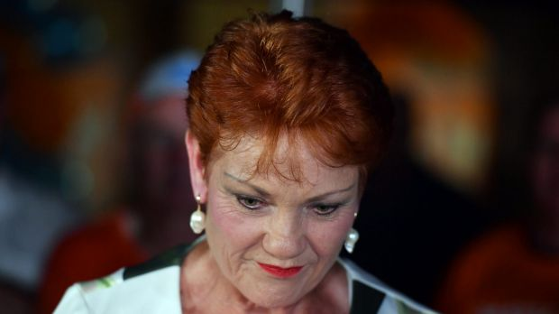 One Nation's Pauline Hanson faces reality at a Buderim house party.