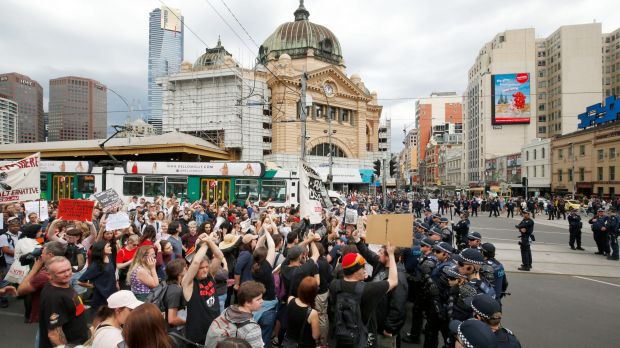 The GetUp! protests took part in major cities across the country.