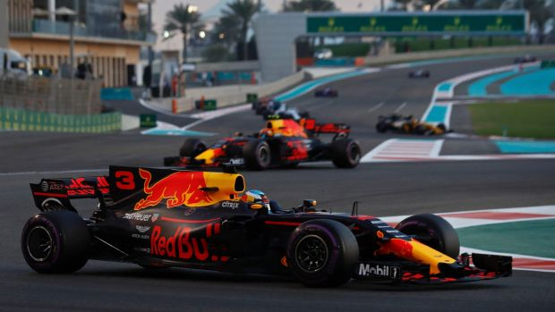 Red Bull driver Daniel Ricciardo had to pull out after 35 laps in Abu Dhabi.