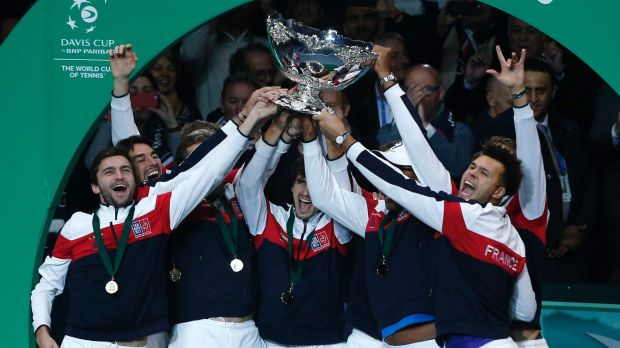 The French team holds the Davis Cup for the first time in 16 years.