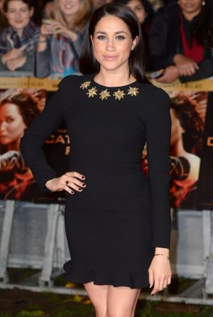 Meghan Markle arriving at the World Premiere of The Hunger Games: Catching Fire in London in 2013.