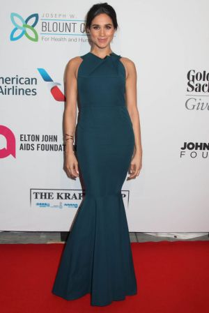 Meghan Markle attends the Elton John AIDS Foundation's 13th Annual An Enduring Vision Benefit at Cipriani Wall Street in ...