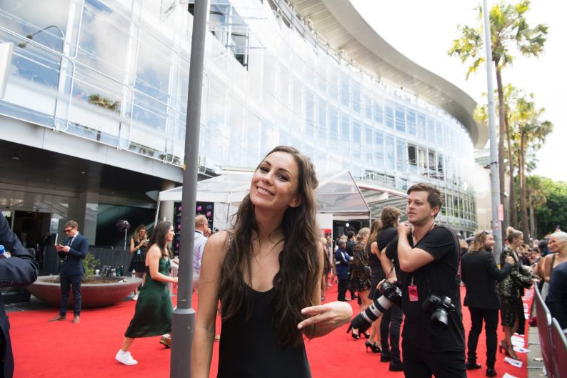 Singer Amy Shark at the ARIAs.
