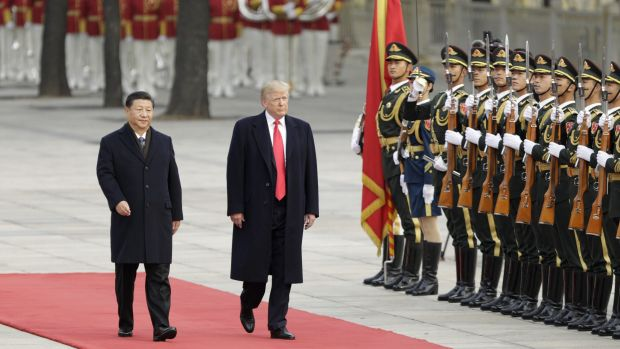 Donald Trump with Xi Jinping in Beijing in November.