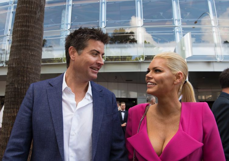 The former Bachelorette Sophie Monk with her chosen one Stu Laundy at the ARIAs.