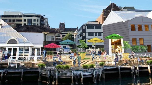 An artist's rendering of how the tower-less wharf could look.