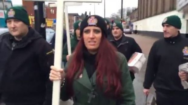 """Jayda Fransen, leader of the fringe anti-Islam party Britain First, said she was """"delighted"""" by Donald Trump's retweets."""