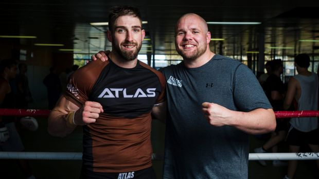 Canberra MMA fighters Duke Didier and Ben Edwards are on a hunt. Photo: Dion Georgopoulos