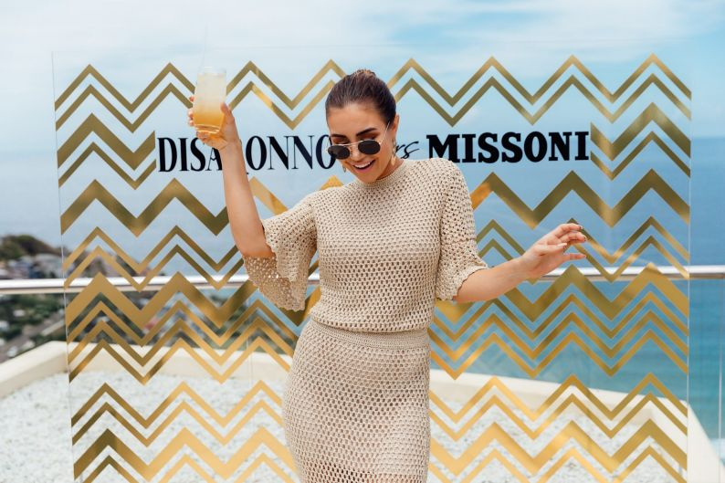 Pia Muehlenbeck at the launch of the limited-edition designer collaboration bottle, Disaronno Wears Missoni, at Jonah's ...
