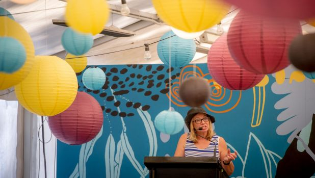 An emotional Rosie Batty was overwhelmed by the talent and strength of the young women who organised Colourathon.