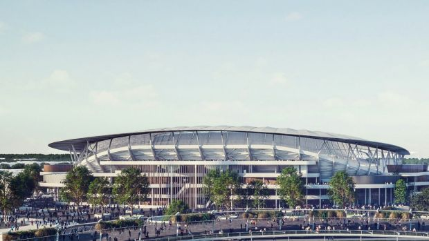New digs: An artist's impression of what the new Allianz Stadium will look like. The stadium is built entirely on SCG ...