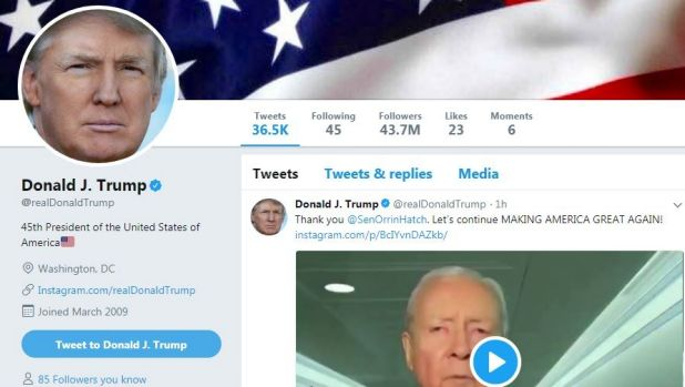 Donald Trump's Twitter account was deactivated for 11 minutes in early November.