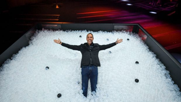 Jean-Francois Bouchard in one of the ball pits at the C2 Preview.