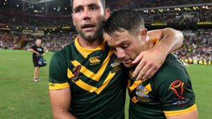 End of an era: Cameron Smith (left) and Cooper Cronk played their last game together with Australia winning the World ...