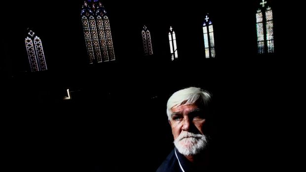 Jamie Whittaker, photographed at the Newtown Mission Church. Whittaker has been visiting the community church since his ...