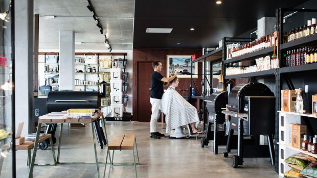 The Department of Simple Things in Byron Bay is a 200-square-metre Mr Simple concept store with a barber shop inside.