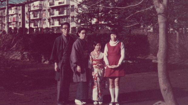 Chieko Ito's family, New Year's Day, 1972:   From left, her husband Eizo; Mrs Ito; her daughter Chizuko; and her ...