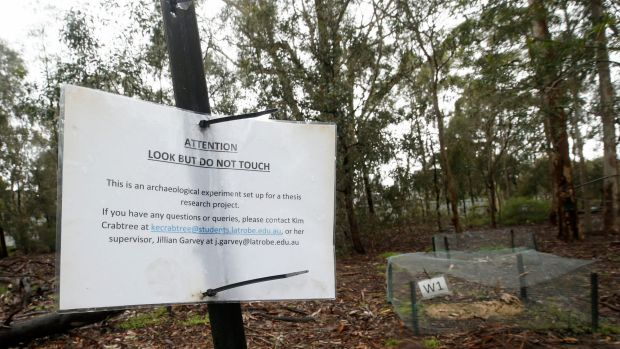 Look but don't touch: the body farm is away from walking tracks at La Trobe University's wildlife sanctuary.