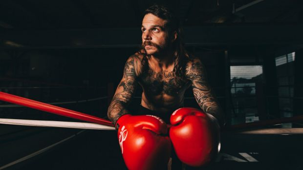 """Beau """"The Mumma's Boy"""" Hartas will be fighting for the NSW middleweight title."""