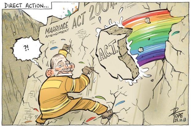 David Pope cartoon, October 23, 2013.