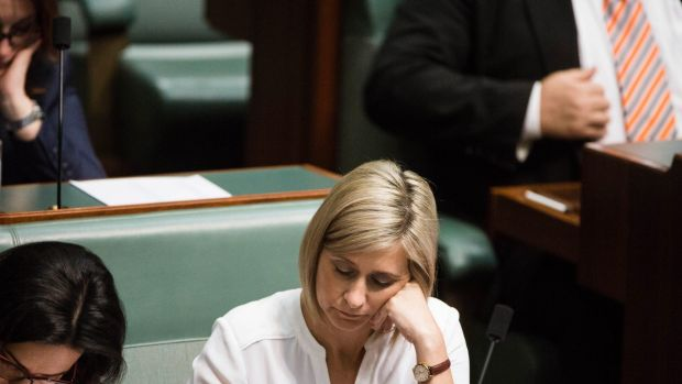 Labor MP Susan Lamb during question time on Tuesday.