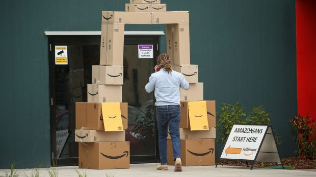 Mr Hall is expecting Amazon Australia's shipping times to be on par with the US store - next-day delivery is offered to ...