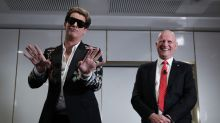 Gucci-clad Milo Yiannopoulos at a speaking event hosted by Senator David Leyonhjelm at a private dining room in ...
